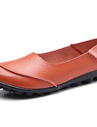 abordables -Femme Chaussures de confort Cuir Automne Mocassins et Chaussons+D6148 Talon Plat Marron / Rouge / Bleu