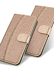 Недорогие -Кейс для Назначение Apple iPhone XS / iPhone XR / iPhone XS Max Кошелек / Бумажник для карт / Флип Чехол Однотонный / Сияние и блеск Твердый Кожа PU
