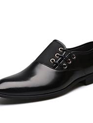 Недорогие -Муж. Официальная обувь Полиуретан Весна / Лето Деловые Туфли на шнуровке Черный / Коричневый