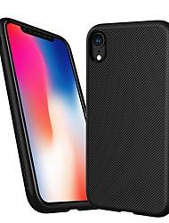 Недорогие -Lenuo Кейс для Назначение Apple iPhone XR / iPhone XS Max Защита от удара / Рельефный Кейс на заднюю панель Полосы / волосы Мягкий ТПУ для iPhone XR / iPhone XS Max