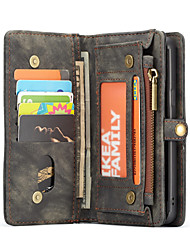 billiga -CaseMe fodral Till Samsung Galaxy S9 Plus / S9 Plånbok / Korthållare / Lucka Fodral Enfärgad Hårt TPU för S9 / S9 Plus / S8 Plus