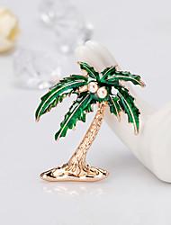 Недорогие -Жен. Классический Броши - Кокосовая пальма европейский, Мода Брошь Зеленый Назначение Подарок / Повседневные