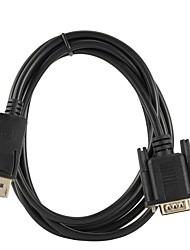 Недорогие -DisplayPort / VGA Кабель-переходник, DisplayPort / VGA к VGA Кабель-переходник Male - Female 1080P 1m-1.99m / 3ft-6ft