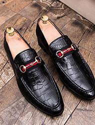 Недорогие -Муж. Официальная обувь Искусственная кожа Осень Мокасины и Свитер Черный / Коричневый / Свадьба / Для вечеринки / ужина