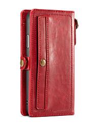 Недорогие -CaseMe Кейс для Назначение Apple iPhone X Кошелек / Бумажник для карт Чехол Однотонный Твердый Кожа PU для iPhone X / iPhone 8 Pluss / iPhone 8