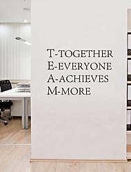 Недорогие -Декоративные наклейки на стены - Простые наклейки / Стикеры стикеров Words & Quotes Персонажи / Геометрия Гостиная / Кабинет / Офис