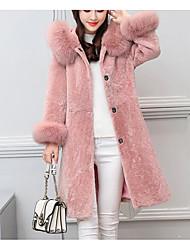 Недорогие -женский длинный пиджак - сплошной цвет с капюшоном