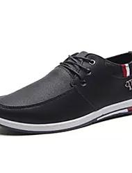 Недорогие -Муж. Комфортная обувь Полиуретан Осень На каждый день Туфли на шнуровке Нескользкий Контрастных цветов Черный / Оранжевый / Синий