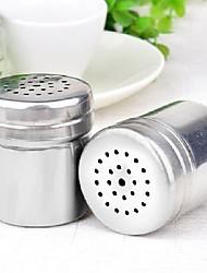 baratos -Aço inoxidável tempero shaker jar sugar sal pimenta ervas toothpick garrafa de armazenamento para churrasco tempero garrafa de armazenamento
