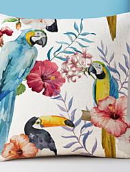 cheap -1 pcs Cotton / Linen Pillow Cover, Floral Print Country