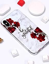 Недорогие -Кейс для Назначение Apple iPhone XS / iPhone XR / iPhone XS Max С узором Кейс на заднюю панель Мрамор Мягкий ТПУ