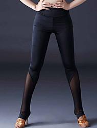 abordables -Danse latine Leggings / Collants Femme Utilisation Soie Glacée Ruché Taille moyenne Pantalon