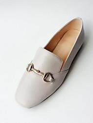 abordables -Femme Chaussures de confort Cuir Nappa Eté Mocassins et Chaussons+D6148 Talon Plat Bout fermé Noir / Gris clair / Rose dragée clair
