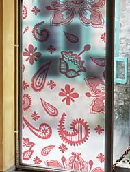 Недорогие -Оконная пленка и наклейки Украшение Шинуазери (китайский стиль) Геометрический принт ПВХ Стикер на окна / Антибликовая