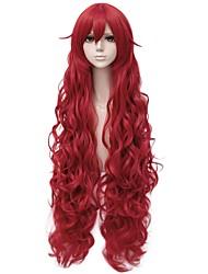 abordables -Perruques de cosplay / Perruque Synthétique Bouclé Coupe Dégradée Cheveux Synthétiques 40 pouce Animé / Cosplay Rouge Perruque Femme Très long Sans bonnet Rouge