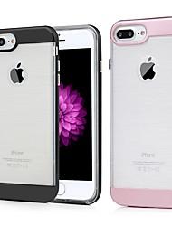 Недорогие -Кейс для Назначение Apple iPhone 7 Plus Защита от удара / Защита от пыли / Прозрачный Кейс на заднюю панель Однотонный Твердый ТПУ для iPhone 7 Plus