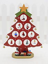 Недорогие -Орнаменты Праздник деревянный Для вечеринок Рождественские украшения