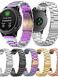 Недорогие -Ремешок для часов для Fenix 5 Garmin Классическая застежка Металл / Нержавеющая сталь Повязка на запястье