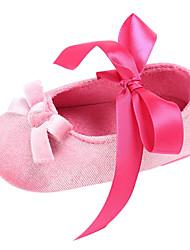 Недорогие -ador® girls 'обувь шифон весна&  осень комфорт / первые ходунки с бантом / на шнурках для ребенка светло-красный / розовый / миндаль
