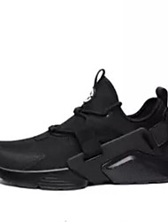 abordables -Homme Chaussures de confort Maille Printemps & Automne Chaussures d'Athlétisme Course à Pied Blanc / Noir / Noir et blanc