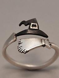 Недорогие -Муж. Старинный Открытое кольцо обернуть кольцо Серебрянное покрытие Креатив Винтаж Панк Модные кольца Бижутерия Серебряный Назначение Рождество Halloween Регулируется