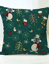 abordables -Housse de coussin Vacances / Arbre de Noël Tissu en Coton Carré Soirée Décoration de Noël