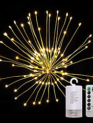 Недорогие -ZDM® 0.2м Наборы ламп 120 светодиоды SMD 0603 1 пульт дистанционного управления Keys Тёплый белый Водонепроницаемый / Новый дизайн / Декоративная Аккумуляторы AA 1 комплект / IP65