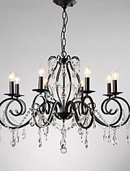 Недорогие -JLYLITE 8-Light Свеча-стиль Люстры и лампы Рассеянное освещение Окрашенные отделки Металл Свеча Стиль 110-120Вольт / 220-240Вольт Лампочки не включены / E12 / E14