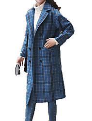 Недорогие -Жен. Пальто Уличный стиль - Горошек и клетка