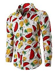 Недорогие -Муж. Рубашка Классический Фрукты