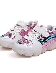 abordables -Garçon Chaussures Polyuréthane Printemps & Automne / Printemps Confort Chaussures d'Athlétisme Course à Pied / Marche Lacet / Combinaison / Scotch Magique pour Enfants Noir / Argent / Rose