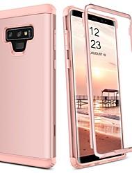 Недорогие -BENTOBEN Кейс для Назначение SSamsung Galaxy Note 9 Защита от удара Чехол Однотонный Твердый ТПУ / ПК для Note 9