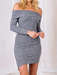preiswerte -Damen Hülle Kleid Solide Mini