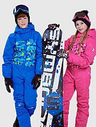 Недорогие -Phibee Мальчики Девочки Лыжный костюм Водонепроницаемость Сохраняет тепло С защитой от ветра Катание на лыжах На открытом воздухе Сноуборд для фристайла Полиэстер Хлопок Зимняя куртка Тёплые брюки