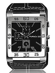 Недорогие -Муж. Наручные часы Кварцевый Творчество Повседневные часы Cool Кожа Группа Аналоговый Винтаж Кольцеобразный Черный / Белый / Коричневый - Белый Черный Коричневый Один год Срок службы батареи