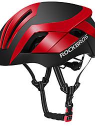 """Недорогие -ROCKBROS Взрослые Средний уровень Мотоциклетный шлем BMX Шлем 26 Вентиляционные клапаны Вентиляция Сетка от насекомых Формованный с цельной оболочкой Ткань """"Оксфорд"""" Пластик + + PCB"""