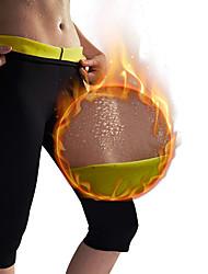 baratos -Calças Modeladoras / Capris Leggings Com Neoprene Elástico, Hot Sweat Perda de peso, Queimador de gordura, Abdômen Definido, Queima de Calorias Para Masculino / Feminino Ioga / Fitness / Ginásio