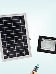 abordables -1pc 20 W Projecteurs LED Imperméable / Télécommandé / Solaire Blanc Froid 3.7 V Eclairage Extérieur / Cour / Jardin 56 Perles LED