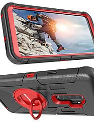 Недорогие -BENTOBEN Кейс для Назначение SSamsung Galaxy S9 Plus / S9 Защита от удара / Кольца-держатели / Матовое Чехол Однотонный Твердый Силикон / ПК для S9 / S9 Plus / S8 Plus
