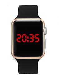 Недорогие -Муж. электронные часы Цифровой силиконовый Черный 30 m Защита от влаги ЖК экран Цифровой На каждый день Мода - Пурпурный Синий Розовое золото