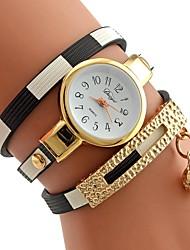 baratos -Mulheres Bracele Relógio Quartzo Preta / Vermelho / Rosa Relógio Casual Analógico Casual Fashion - Vermelho Rosa claro Azul Claro Um ano Ciclo de Vida da Bateria
