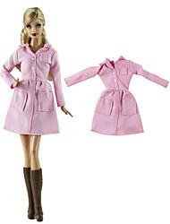 Недорогие -Жакет Пальто / Топ Для Кукла Барби Розовый Нетканое полотно / Ткань Демин Пальто Для Девичий игрушки куклы