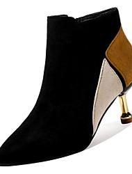 abordables -Femme Fashion Boots Polyuréthane Hiver Décontracté Bottes Talon Aiguille Bottes Mi-mollet Marron / Vert / Couleur Pleine