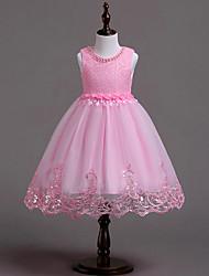 お買い得  -子供 女の子 ソリッド ノースリーブ ドレス