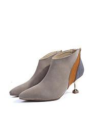 billige -Dame Fashion Boots Ruskind Sommer Støvler Killingehæl Sort / Grå / Mandel