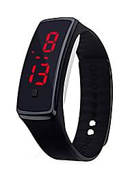 Недорогие -Муж. электронные часы Цифровой силиконовый Черный / Белый / Синий 30 m Защита от влаги ЖК экран Цифровой На каждый день Мода - Красный Зеленый Синий