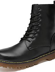 billiga -Dam Fashion Boots Nappaskinn Vinter Klassisk / Ledigt Stövlar Platt klack Stövletter Svart