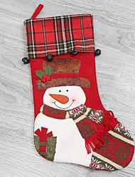 Недорогие -Рождественские чулки Праздник Ткань Круглый Для вечеринок Рождественские украшения