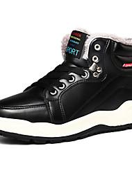 Недорогие -Муж. Комфортная обувь Кожа Зима На каждый день Ботинки Сохраняет тепло Черный / Синий