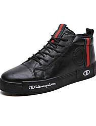 abordables -Homme Chaussures de confort Cuir Hiver Sportif / Décontracté Basket Garder au chaud Noir / Vert